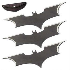 Triple Action Bat Throwing Stars