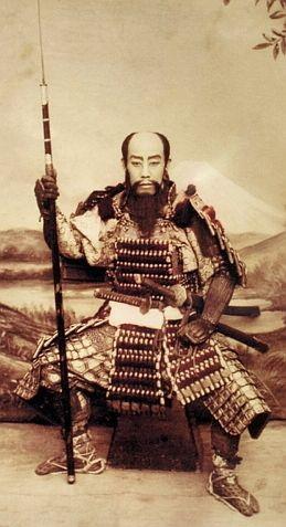 Samurai holding a yari. | Samurai armor, Japanese warrior, Japanese history