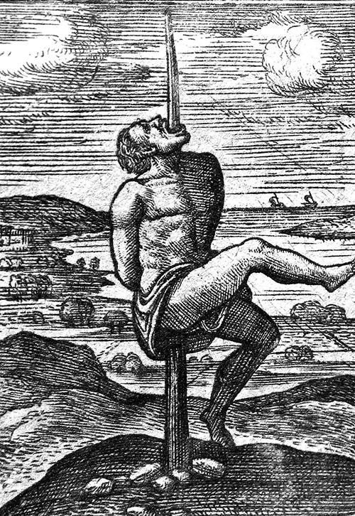 Vertical impalment, Source: Wikimedia