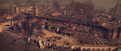 Burning of a Roman city, Source: Pinterest